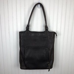 Solo Chambers Full Grain Leather Poly Bucket Tote